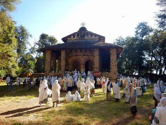 Gondar, Eglise Berhanena Selassie. Voyage Séjour Trek Trekking Randonnée Road Trip en Ethiopie Visite de la Vallée de l'Omo en Ethiopie.