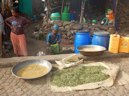 Epices de  Lalibela en Ethiopie. Lalibela en trek une ville sereine.  Voyage Séjour Trekking et randonnée, Road Trip en Ethiopie.  Région Amhara