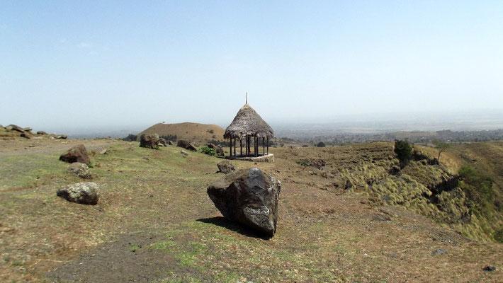 Une sépulcre d'un dignitaire. Voyage Séjour Trek Trekking Randonnée Road Trip Visite de la Région Oromia en Ethiopie. Le Lac Ara Shetan