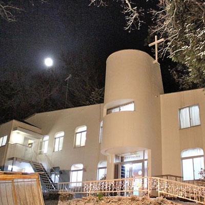 能勢川キリスト教会 夜景