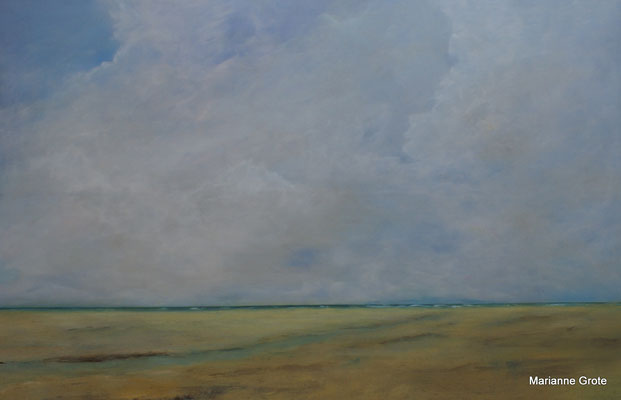 Strandgedanken, 80 x 120 cm, Acryl auf Leinwand, 2016