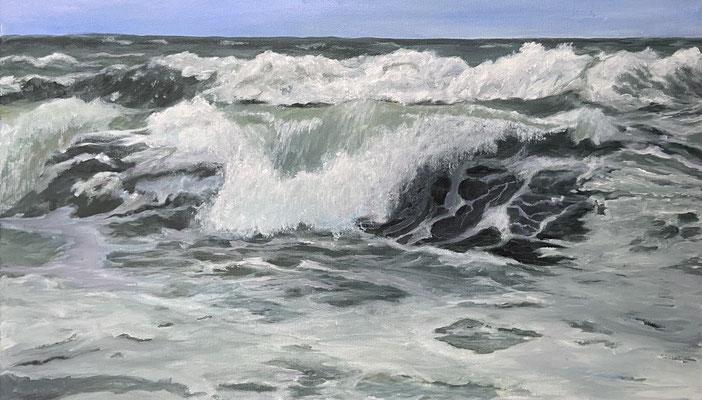 Meeresrauschen, 30 x 50 cm, Acryl auf Leinwand 2021