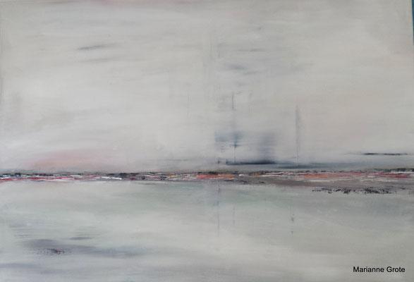 Bedeckte See, 70 x 100 cm, Acryl auf Leinwand, 2015