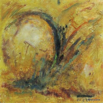 Aufbruch I, Hartfaserplatte, 60 x 60 cm, 2009