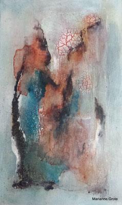 Spuren III, Mischtechnik auf Leinwand, 50 x 30 cm, 2014