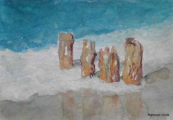Sylt, Aquarell, 10 x 15 cm, 2014