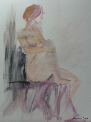 Acrylskizze, 58 x 42 cm