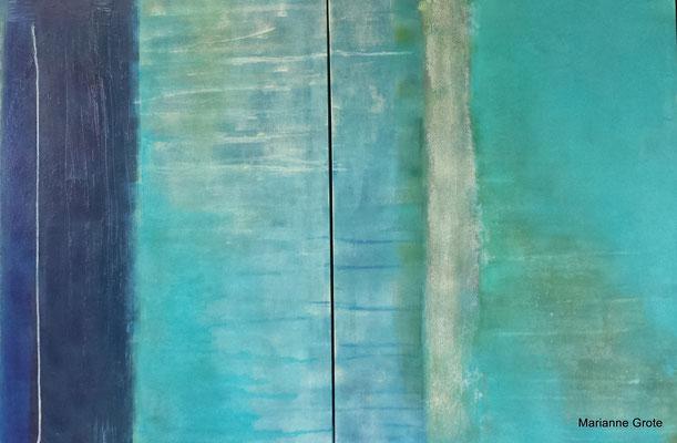 o.T., Mischtechnik auf Leinwand, 80 x 120 cm, 2012