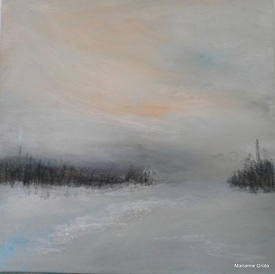 Winterlandschaft, 60 x 60 cm, Acryl auf Leinwand, 2013