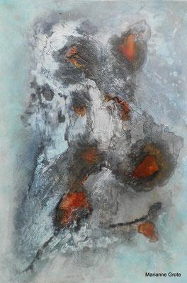 Spuren I, Mischtechnik auf Malkarton, 60 x 40 cm, 2015