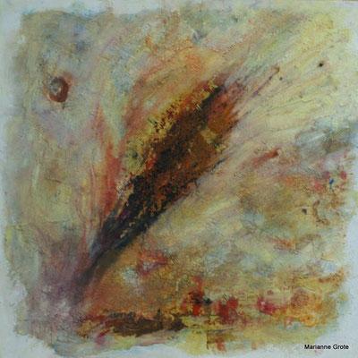 Aufbruch II, Mischtechnik auf Hartfaserplatte, 60 x 60 cm, 2010