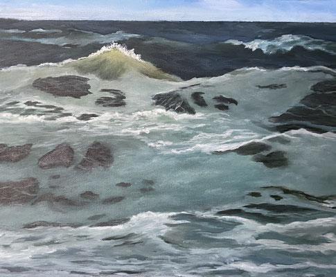 Kleines Meer, 40 x 50 cm, Acryl auf Leinwand 2021