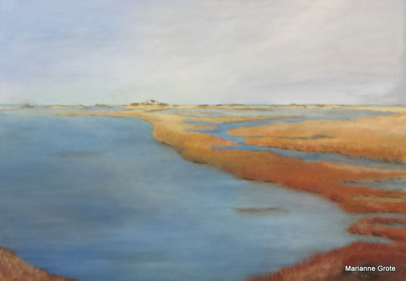 An der Nordsee, 70 x 100 cm, Acryl auf Leinwand, 2016