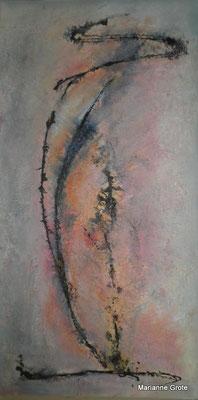 Mit Schwung I, Mischtechnik, 80 x 40 cm, 2010