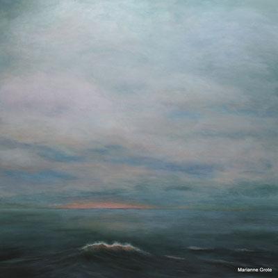Morgenspaziergang, 100 x 100 cm, Acryl auf Leinwand, 2017