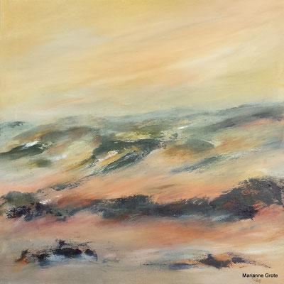 Dünenland, 50 x 50 cm, Acryl auf Leinwand, 2015