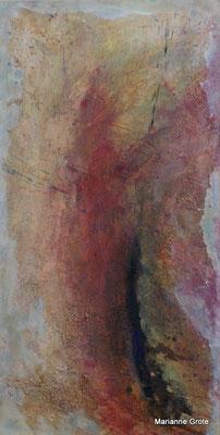 Aufbruch III, Mischtechnik auf Hartfaserplatte, 80 x 40 cm, 2010