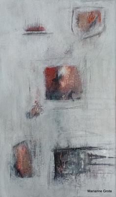 Spuren IV, Mischtechnik auf Leinwand, 50 x 30 cm, 2014