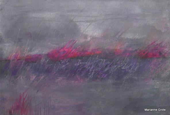 Landschaftsfantasie II, 12 x 17 cm, Acryl auf Karton, 2012