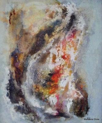 o.T., Mischtechnik auf Malkarton, 60 x 50 cm, 2015
