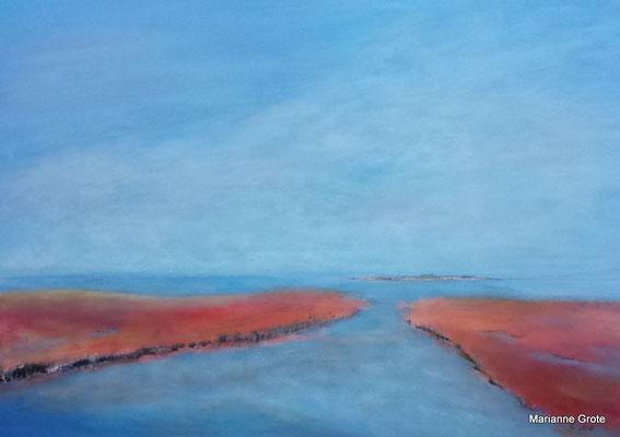 Die Leichtigkeit des Sommers, 70 x 100 cm, Acryl auf Leinwand, 2016