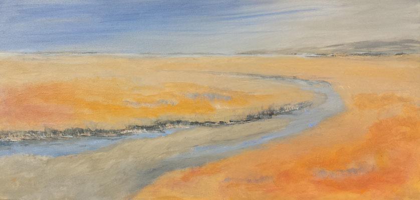 Ein leichter Sommerwind, 40 x 80 cm, Acryl auf Leinwand, 2017