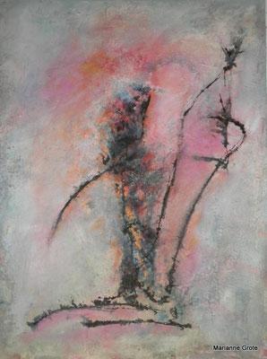 Mit Schwung II, Mischtechnik, 80 x 40 cm, 2010