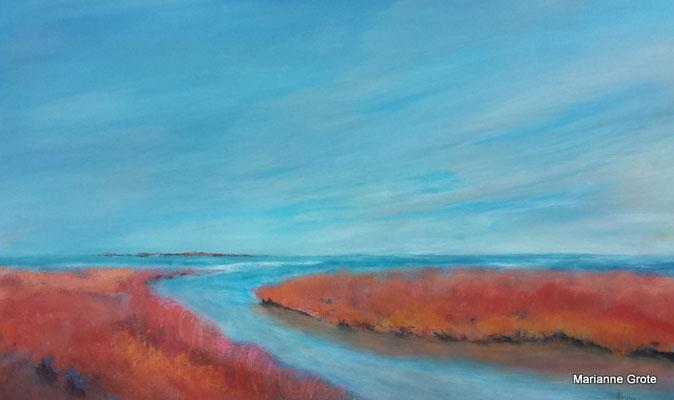 Sommer am Meer, 60 x 100 cm, Acryl auf Leinwand, 2016