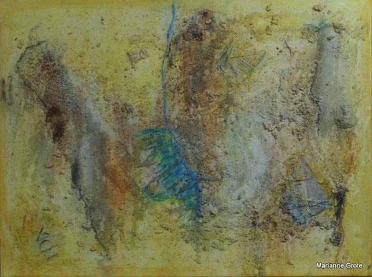 Zeilenzeiten, Mischtechnik auf Leinwand, 60 x 80 cm, 2010