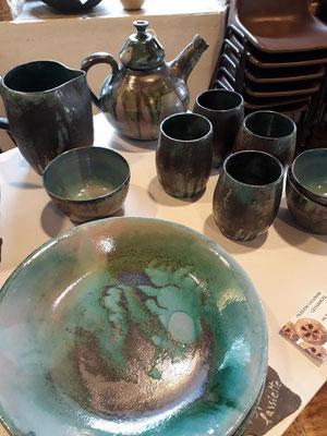 les créations de sylvianne - céramiste à villevieux - foire aux plantes de lons le saunier - association llb