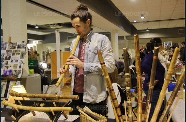 mathias guinchard - 10ème marché de noël de l'association llb - lons le saunier - jean paul barthelet - le progrès
