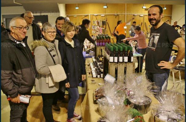 cédric rodriguez - 10ème marché de noël de l'association llb - lons le saunier - jean paul barthelet - le progrès