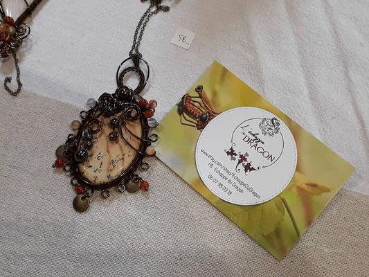 les bijoux magiques de laure, l'échoppe du dragon, à sagy - foire aux plantes de lons le saunier - association llb