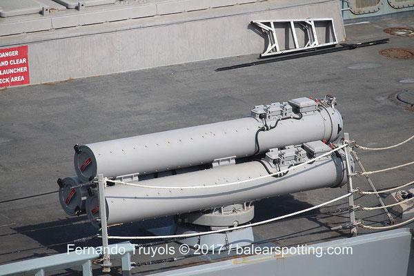 Lanzador tripe de torpedos Mk32