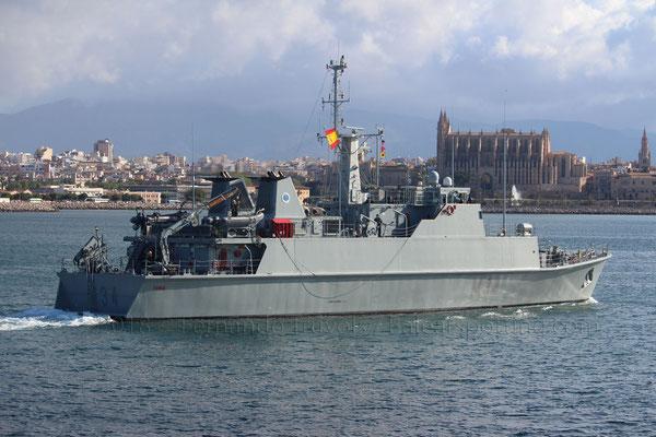 M-34 Turia saliendo de Palma el 13 de Mayo de 2018