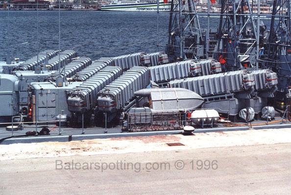 Lanzadores de misiles SSM MM 38 Exocet