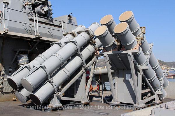 Lanzadores de misiles Harpoon