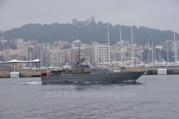 P-82 Formentor saliendo de Palma el 7 de Mayo de 2018