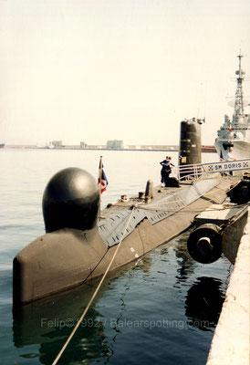 El S-643 Doris y el D-641 Dupleix el 14 de Marzo de 1992