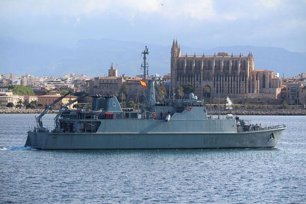 M-36 Tajo saliendo de Palma el 13 de Mayo de 2018