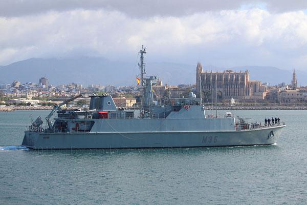 M-35 Duero saliendo de Palma el 13 de Mayo de 2018