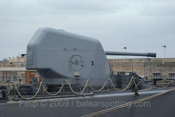 Cañón OTO Breda Compact 127 mm-54 cal