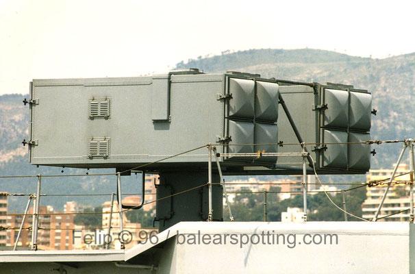 Montaje Mk 29 para 8 misiles SAM Aspide