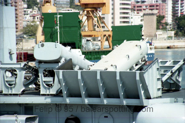 Lanzadores misiles antibuque Teseo OTOMAT