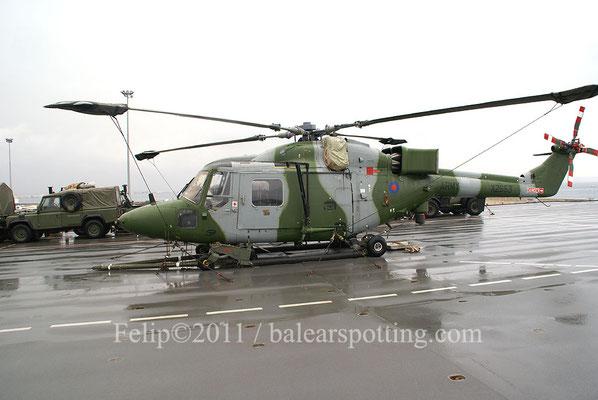 Helicóptero Westland Lynx que curiosamente pertenece al Army Air Corps