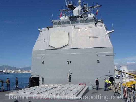Tras las modernizaciones se instalaron los VLS Mk.41