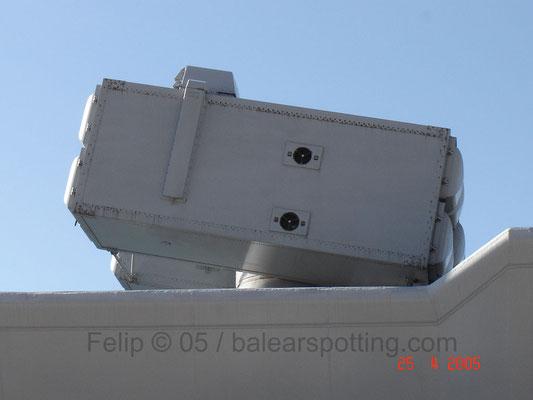 Montaje Albatros para 8 misiles SAM Aspide