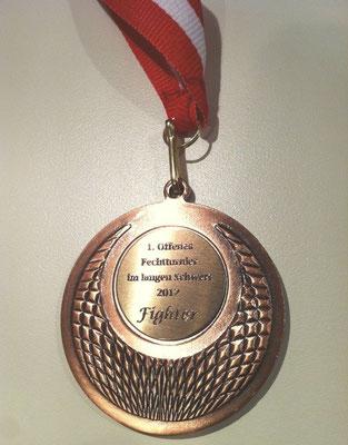 Teilnehmermedaille Schwertkampfturnier 2012
