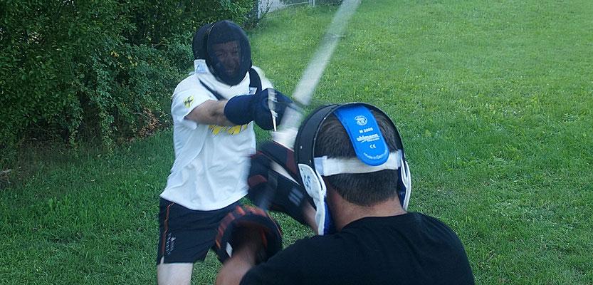 Schwertkampf Sommertraining