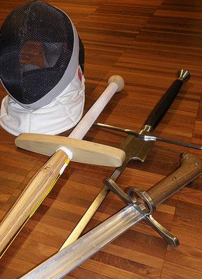 Fechtmaske Shinai Fechtfeder Langes Messer